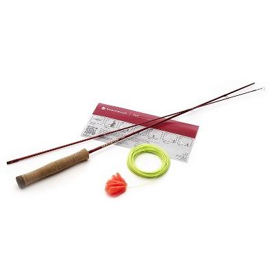 Redington 5-8012027 Form Game Casting Practice Beginner Travel Angler Fly Fishing Rod Set with Storage Case