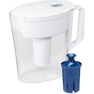 Brita Water Filter Soho Water Pitcher Dispensers with Longlast Water Filter - White