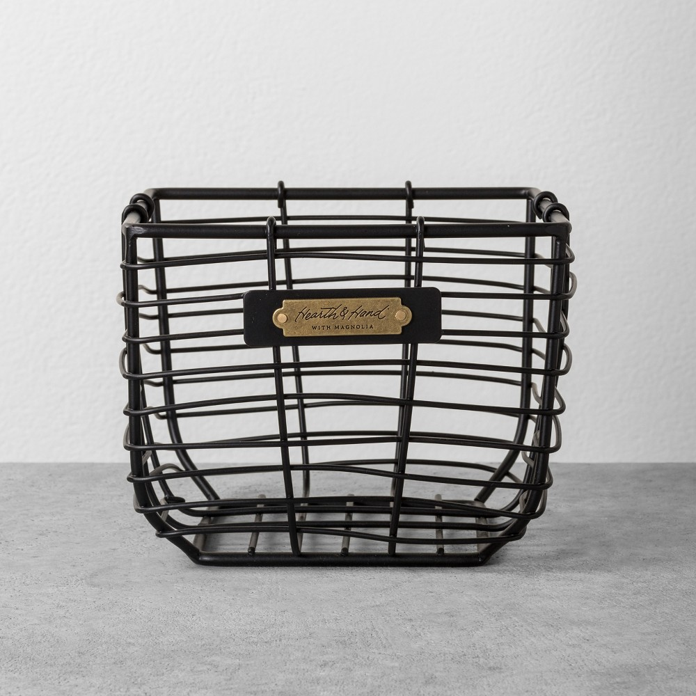 Wire Bin Small Black - Hearth & Hand with Magnolia