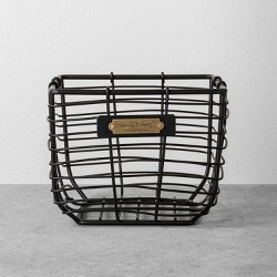 Wire Storage Basket Black - Hearth & Hand™ with Magnolia