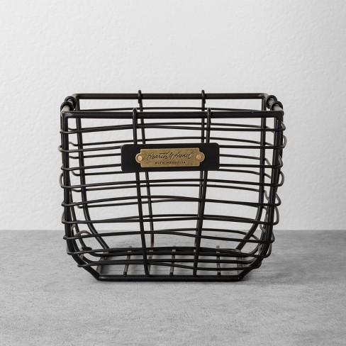 Small Wire Storage Basket Black - Hearth & Hand™ with Magnolia - image 1 of 3