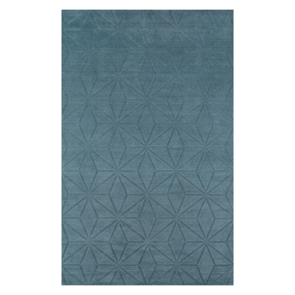 5'X8' Geometric Loomed Area Rug Blue - Momeni