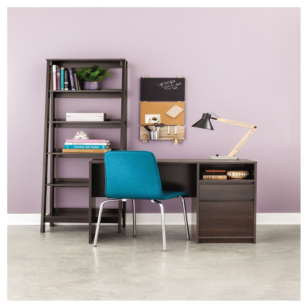 Image of 5-Shelf Trestle Bookcase Espresso - Room Essentials, Brown