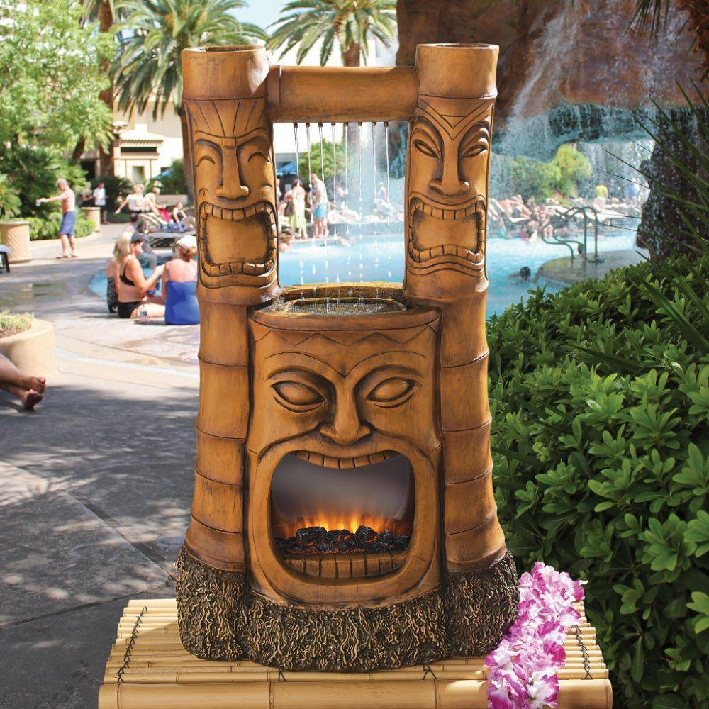 Image of Tiki Gods of Fire and Water Fountain - Acorn Hollow