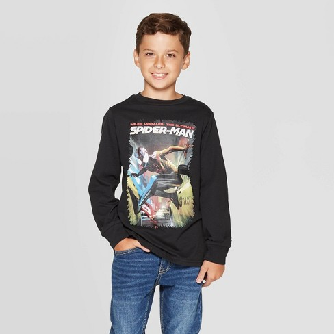 Spiderman Boys Long Sleeves T Shirt