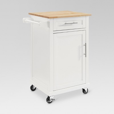Carey Small Kitchen Cart - White - Threshold™