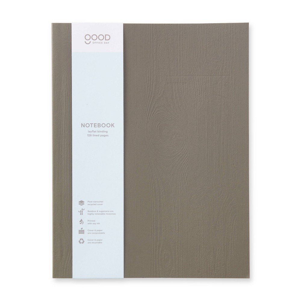 128 Page College Ruled Composition Notebook 10 34 X7 5 34 Charcoal Good Office Day