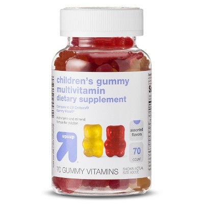 Children's Multivitamin Dietary Supplement Gummies - 70ct - Up&Up™ (Compare to L'il Critters Gummy Vites)