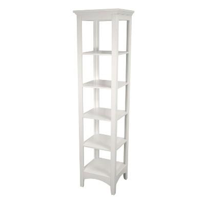 Madison Linen Tower White 63  - Elegant Home Fashions