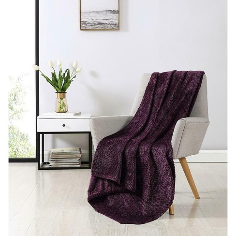 Kate Aurora Ultra Soft & Plush Herringbone Fleece Throw Blanket Covers - image 1 of 2