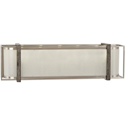 "Minka Lavery Tyson's Gate 24""W Brushed Nickel with Shale Wood Bath Light"