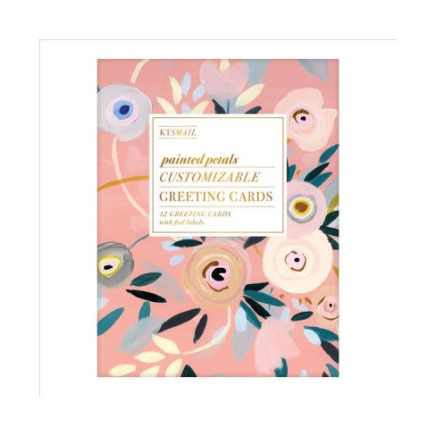 Painted petals customizable greeting cards with folio labels about this item m4hsunfo