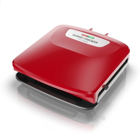 George Foreman Rapid Grill Series 4-Serving Removable Plate Electric Indoor Grill and Panini Press - Red RPGF3602RD - image 1 of 12