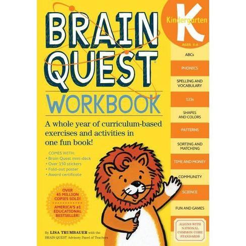 Brain Quest Workbook Kindergarten Brain Quest Paperback By Lisa Trumbauer Target