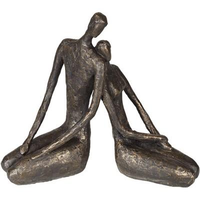 "Dahlia Studios Loving Couple 11 1/2"" Wide Bronze Sculpture"