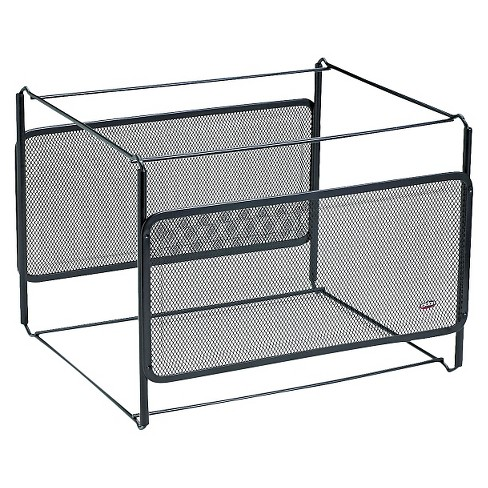 Rolodex™ Letter Size Mesh File Frame Holder, Wire, 12 3/8 x 11 3/8 x 9 5/8, Black - image 1 of 1