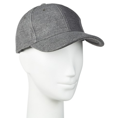 71daeb23f1193 Women s Solid Brushed Baseball Cap Gray - Manhattan Hat Co.   Target