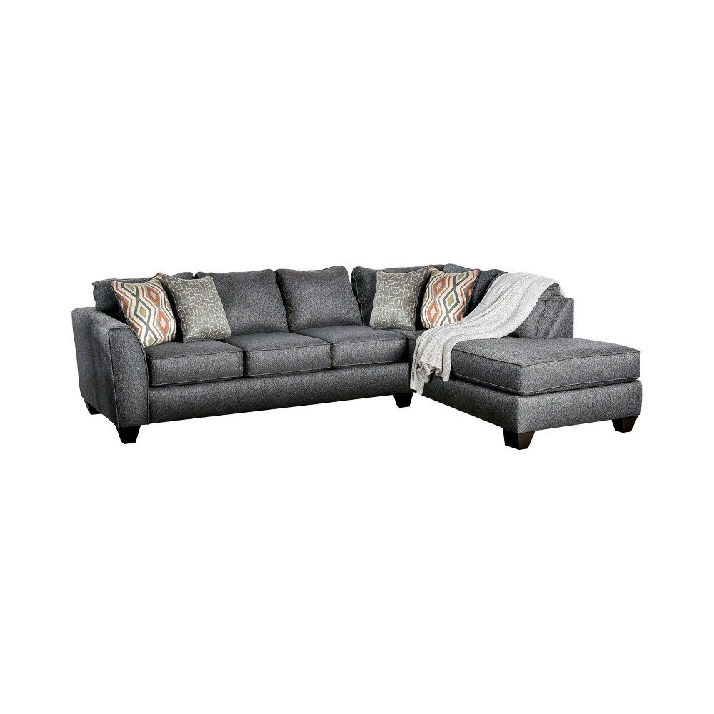 Deming L Shaped Sectional Gray - Homes: Inside + Out