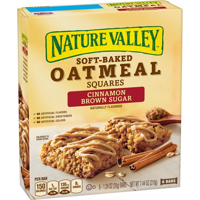 Nature Valley Soft-Baked Cinnamon Brown Sugar Oatmeal Bars - 6ct - image 1 of 3