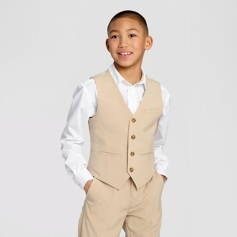 Boys' Suit Vest - Desert Tan 16 - WD.NY Black - image 1 of 3