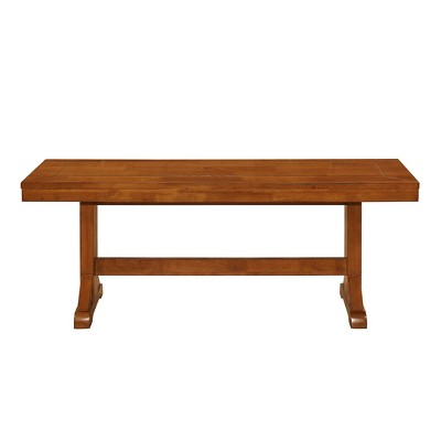 48  Wood Dining Bench - Antique Brown - Saracina Home