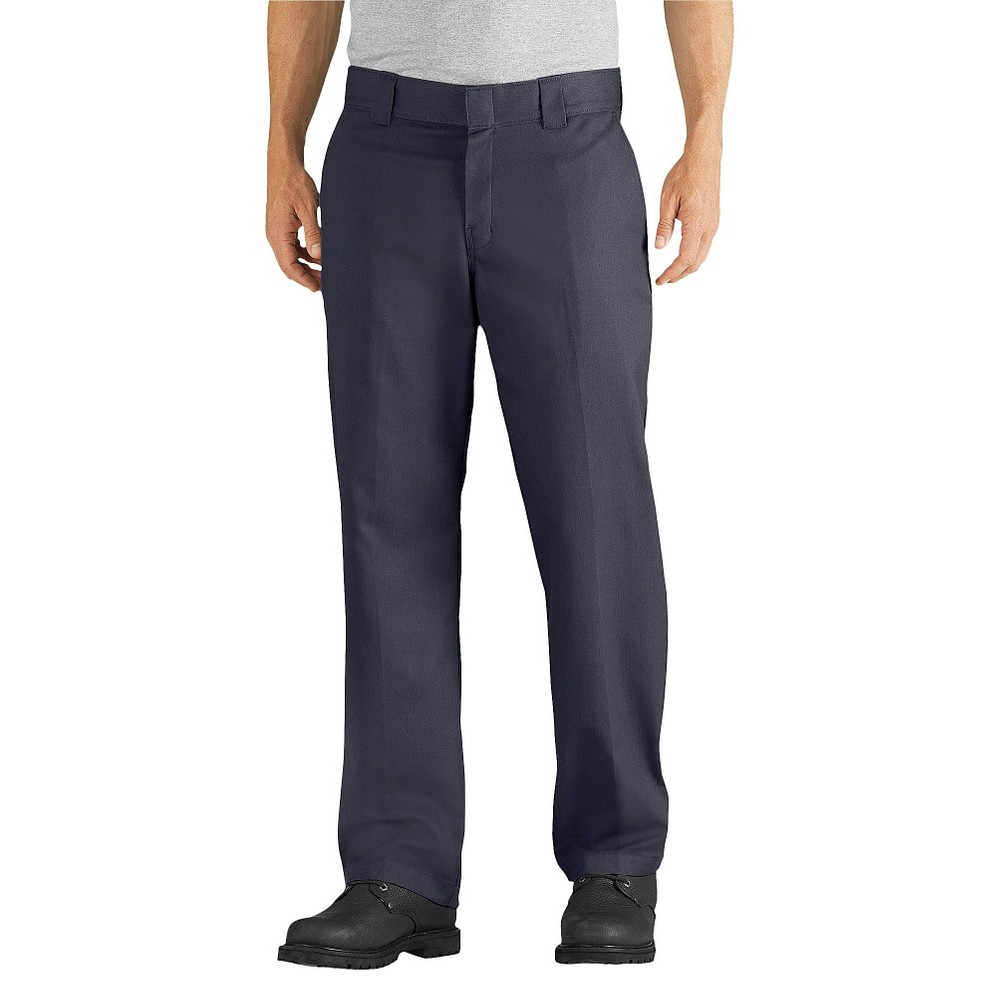 Dickies Men's Relaxed Straight Fit Flex Twill Pants- Dark Navy 32x34