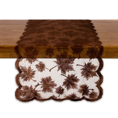 Design Imports 72 x18  Table Runner Brown