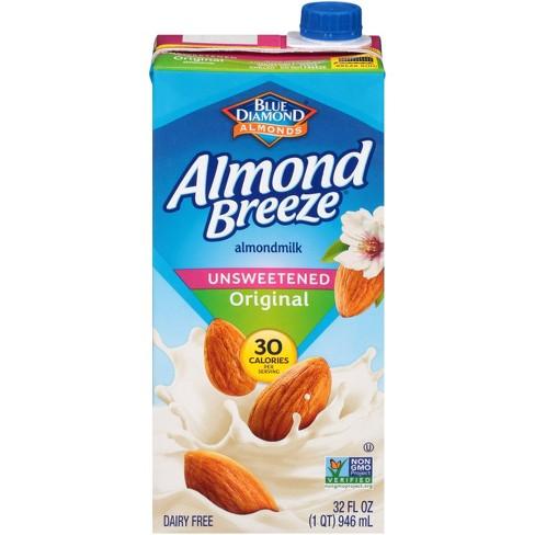 Blue Diamond Almond Breeze Unsweetened Almond Milk - 32 fl oz - image 1 of 4