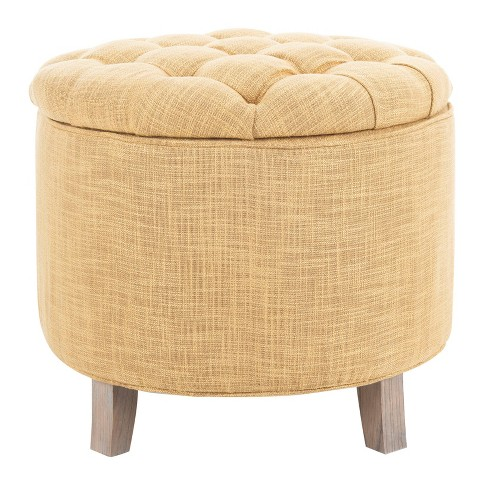 Marvelous Storage Ottoman Gold Safavieh Gmtry Best Dining Table And Chair Ideas Images Gmtryco