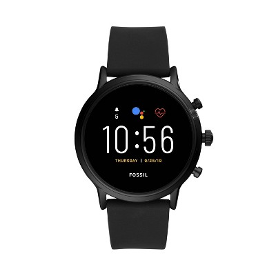 Fossil Gen 5 Smartwatch Carlyle HR 44mm - Black with Black Silicone