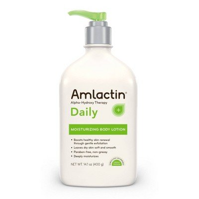 AmLactin Daily Moisturizing Body Lotion Bottle with Pump - 14.1oz