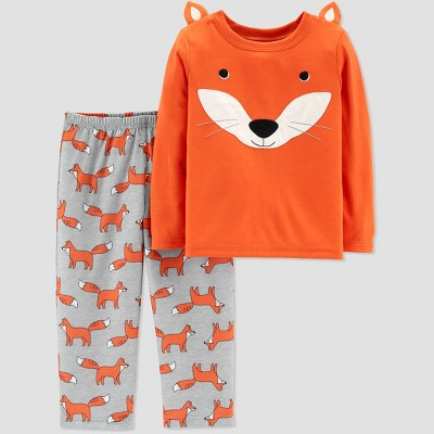 Baby Boys' 2pc Fox North Pajama Set - Just One You® made by carter's Orange 12M