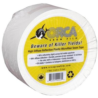 Orca Grow Film OR6000 2.5 Inches x 75 Feet Indoor Garden Microfiber Seam Tape