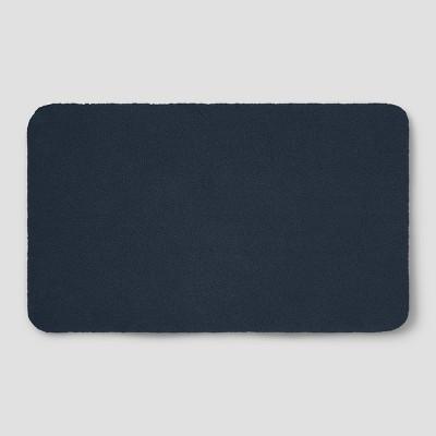 Perfectly Soft Nylon Solid Bath Rug Navy Blue - Opalhouse™