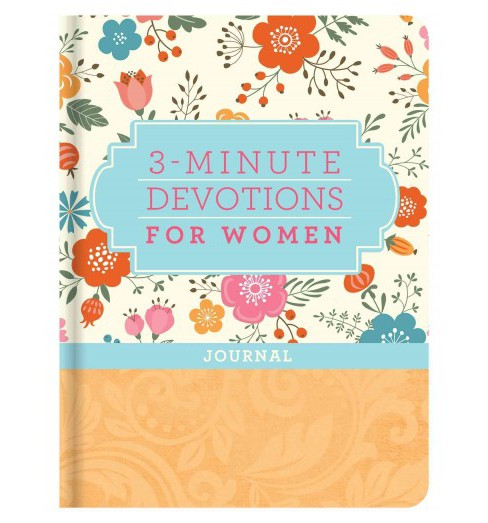 3-minute Devotions for Women Journal -  (Hardcover) - image 1 of 1