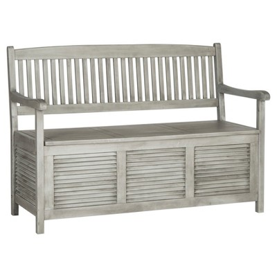 Brisbane Storage Bench - Gray - Safavieh®