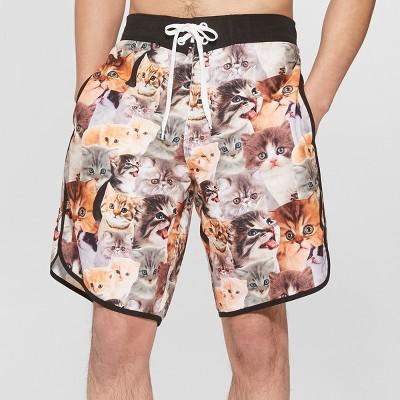 Men's 10  Cats Board Shorts - L