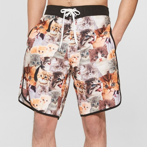 """Men's 10"""" Cats Board Shorts - S - image 1 of 3"""