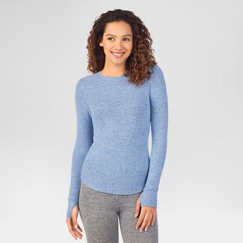 5755b80cca4 Warm Essentials® by Cuddl Duds® Women's Sweater Knit Crew Neck Thermal Top
