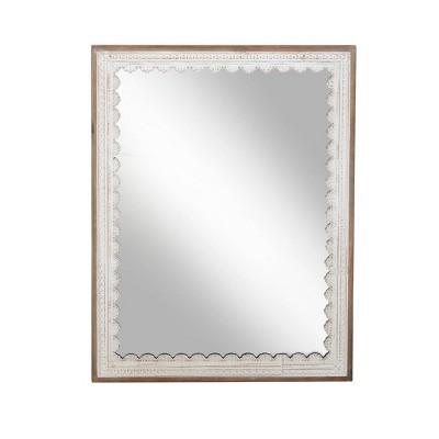 "48"" x 36"" Modern Rectangular Wooden Framed Wall Mirror - Olivia & May"