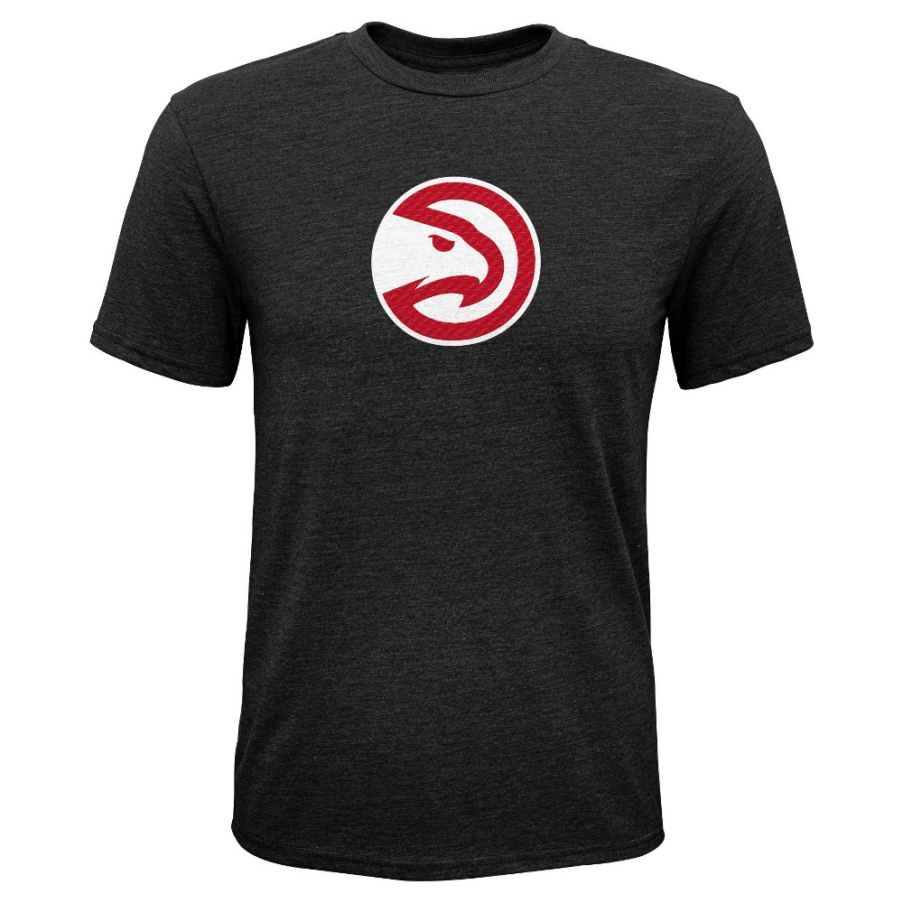Atlanta Hawks Boys' Buzzer Beater Gray Performance T-Shirt S, Multicolored