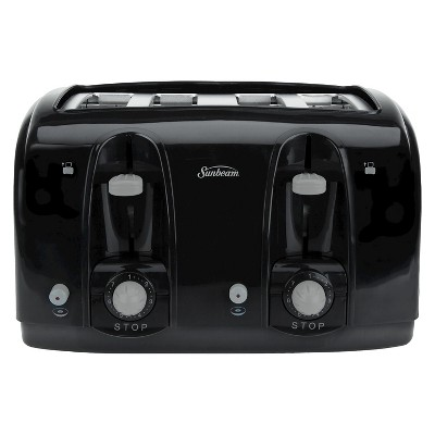 Sunbeam 4-Slice Extra-Wide Slot Toaster - Black TSSBTR4SBK