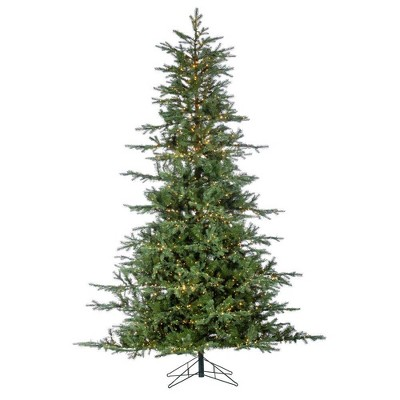 9ft Sterling Tree Company LED Full Natural Cut Portland Pine Artificial Christmas Tree