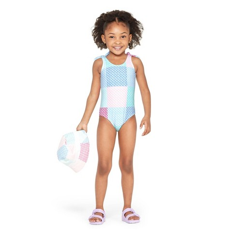 45273890f1bc0 Toddler Girls' Patchwork Whale One Piece Swimsuit - Pink/Blue - vineyard  vines® for Target