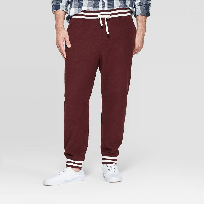 Men's Big & Tall Casual Fit Jogger Pants - Goodfellow & Co™ Black Raspberry - image 1 of 3