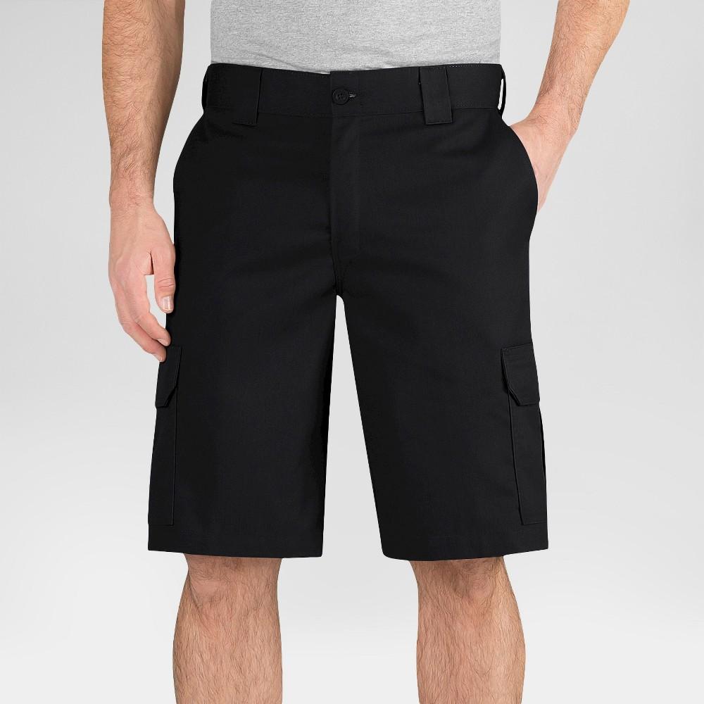 Dickies Men's Regular Fit Flex Twill 11 Cargo Shorts- Black 42