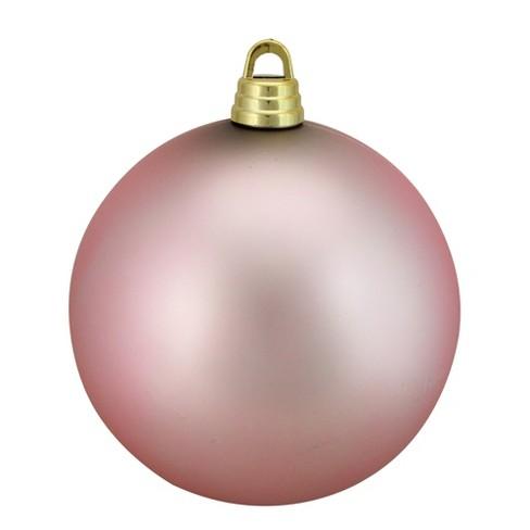 "Northlight 12"" Shatterproof Matte Christmas Ball Ornament - Pink - image 1 of 1"