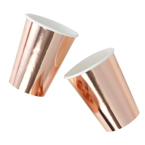 8ct Ginger Ray Rose Gold Foiled Paper Cups Pick And Mix - image 1 of 2