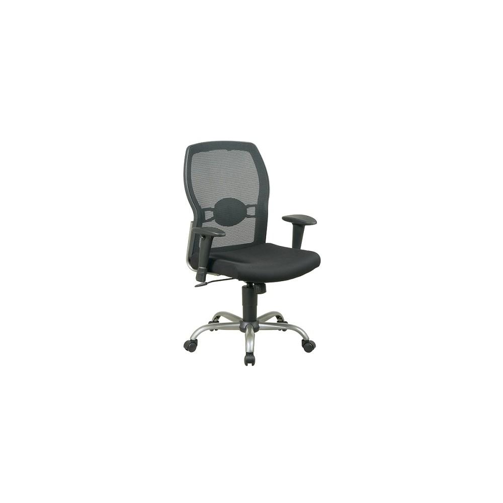 Screen Back Mesh Seat Chair Black Osp Home Furnishings