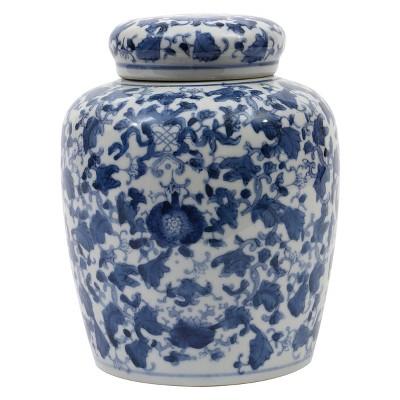 Decorative Ceramic Ginger Jar (8.25 )- Blue/White - 3R Studios